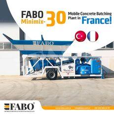 neue FABO MINIMIX-30M3/H MINI CENTRALE A BETON MOBILE Betonmischanlage