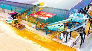 neue FABO TURBOMIX-100 MOBILE CONCRETE PLANT READY Betonmischanlage