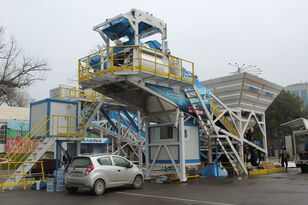 neue PROMAX Mobile Concrete Batching Plant M100-TWN (100m3/h) Betonmischanlage