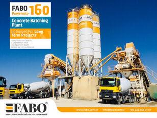 neue FABO POWERMIX-160 STATIONARY CONCRETE BATCHING PLANT Betonmischanlage