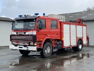 SCANIA 93M 280PS Gerätewagen mit Wassertank + HMF 8TM Kran Feuerwehrauto